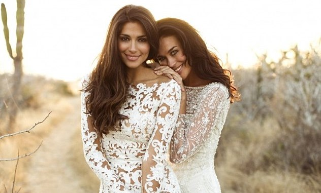 Megan Gale & Pia Miller Model Lace Bridal Wear For 'The Lane'