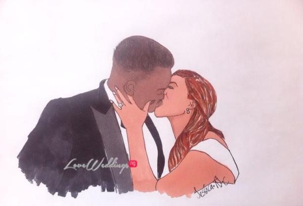 Nigerian Bridal Sketch - Dr Sid Simi Osomo Jessica LoveweddingsNG