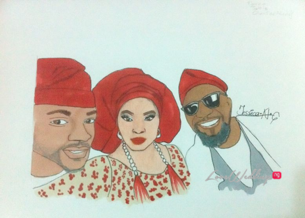 Nigerian Bridal Sketch - Ebuka, Toolz, Demuren Jessica LoveweddingsNG