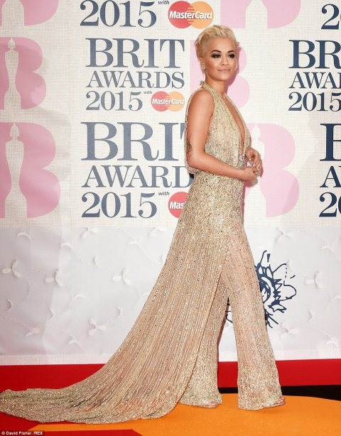 BRIT Awards 2015 - Rita Ora LoveweddingsNG