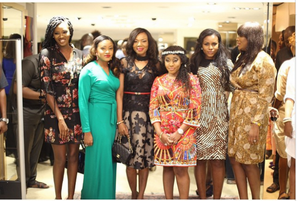 Genevieve Magazine Website Launch - Mercy Ajisafe, Lanre DaSilva-Ajayi, Betty Irabor, Jennifer Obayuwana, Liz Awoliyi & Bola Balogun