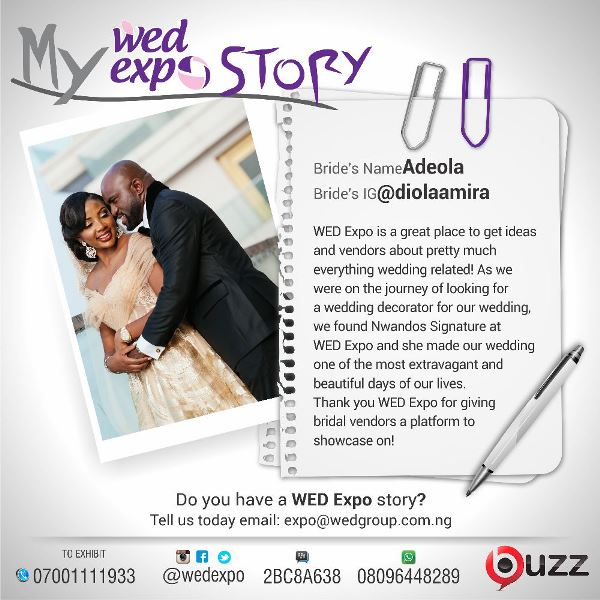 LoveweddingsNG Wed Expo Story - Adeola