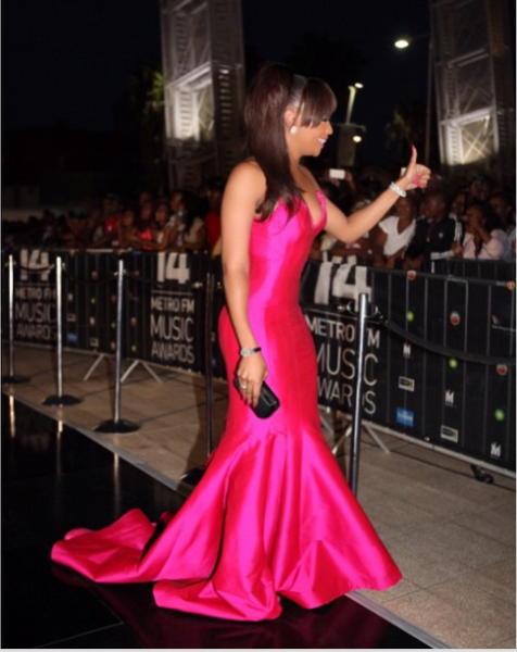 Metro FM Music Awards- Bonang-Matheba LoveweddingsNG2
