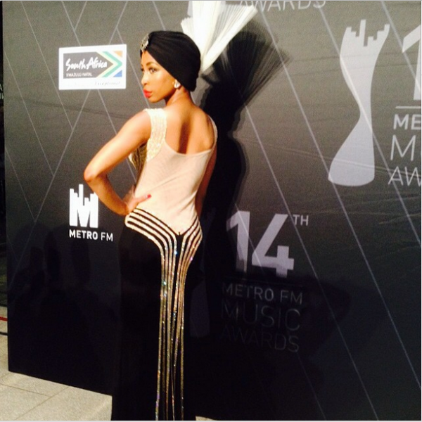 Metro FM Music Awards- Khanyi Mbau LoveweddingsNG