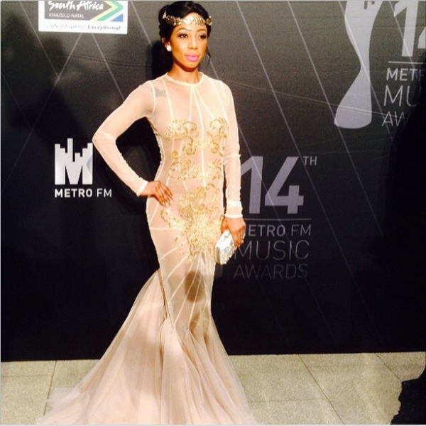 Metro FM Music Awards- Khanyi Mbau LoveweddingsNG1
