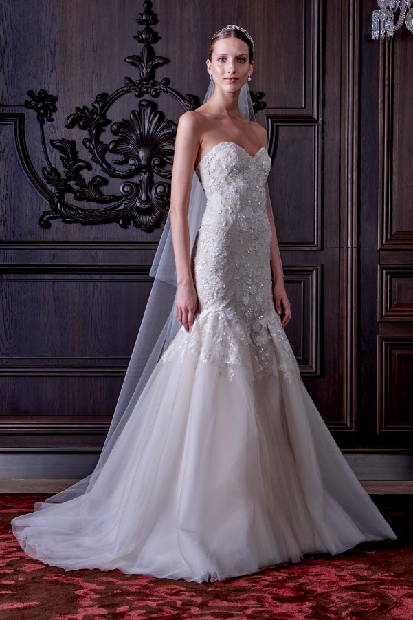 Monique Lhuillier's Spring 2016 Bridal Collection - LoveweddingsNG7