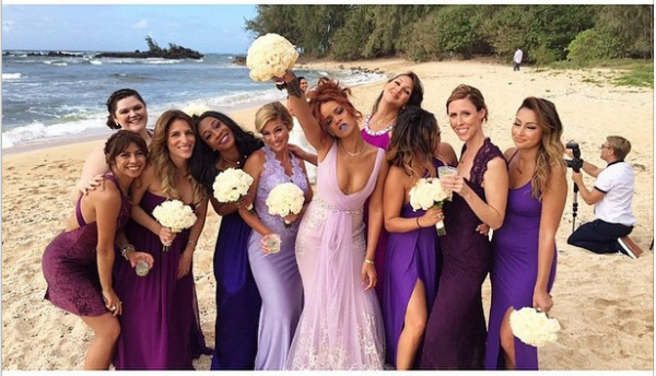 Rihanna On Bridesmaid Duty At Friend/Assistant – Jennifer Morales' Wedding