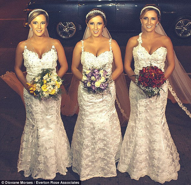 Triplets Wed in Brazil LoveweddingsNG