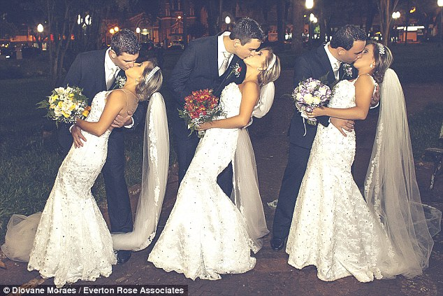 Triplets Wed in Brazil LoveweddingsNG1