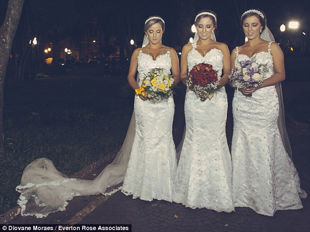 Triplets Wed in Brazil LoveweddingsNG5
