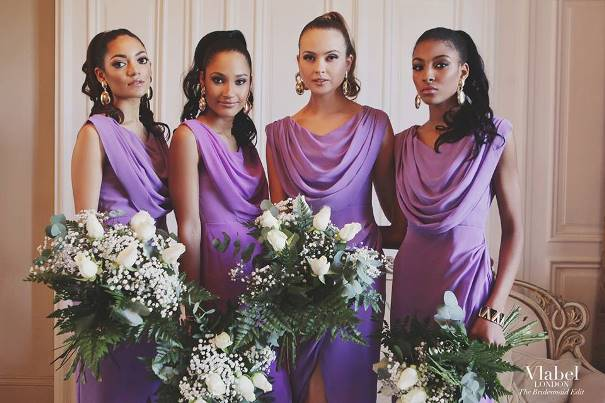 VLabel London The Bridesmaids Edit - Priory Dress Lilac LoveweddingsNG