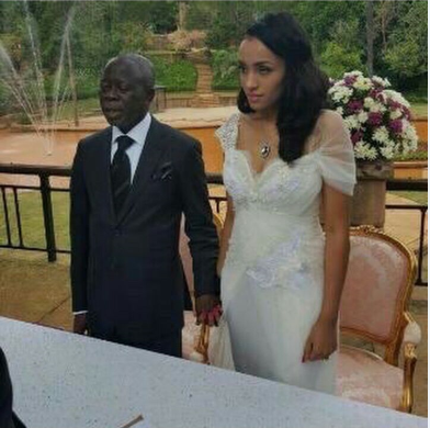 Governor Adams Oshiomole weds Lara Fortes LoveweddingsNG7