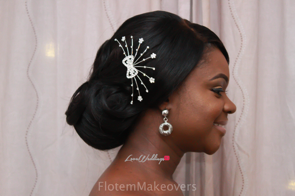 Nigerian Bridal Hair Inspiration Flotem Makeovers LoveweddingsNG12