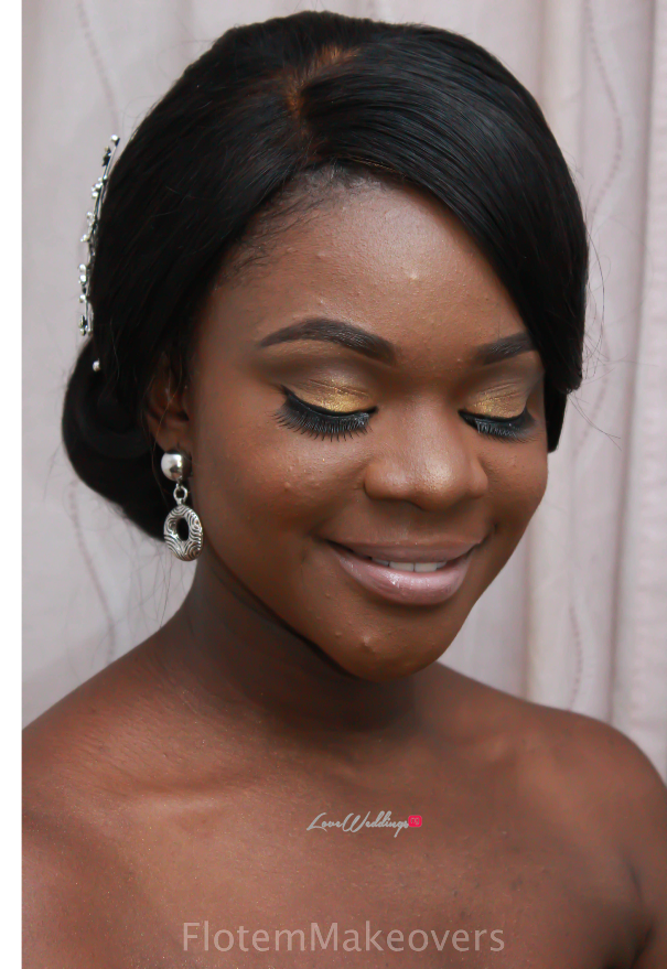 Nigerian Bridal Hair Inspiration Flotem Makeovers LoveweddingsNG13