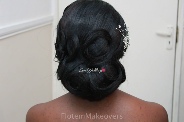 Nigerian Bridal Hair Inspiration Flotem Makeovers LoveweddingsNG17