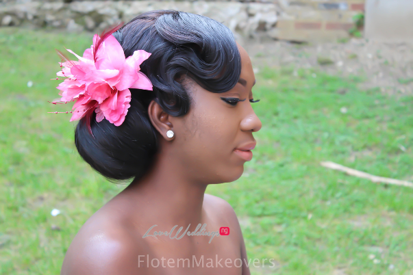 Nigerian Bridal Hair Inspiration Flotem Makeovers LoveweddingsNG25