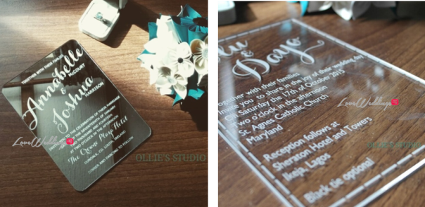 Ollies Studio - Avant Garde Wedding Invitations LoveweddingsNG