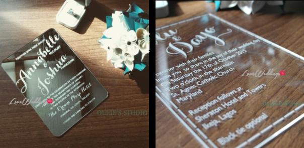 Ollies Studio - Avant Garde Wedding Invitations LoveweddingsNG