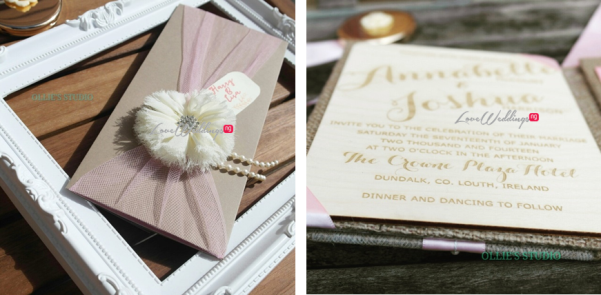 Ollies Studio - Shabby Chic Rustic Informal Wedding Invitations LoveweddingsNG
