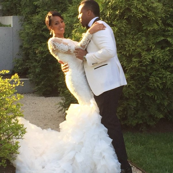 Osi Umenyiora's Sister Weds - Bride and groom1