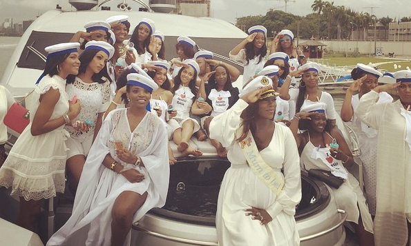 Pictures from Tiwa Savage's Sailor Themed Baby Shower