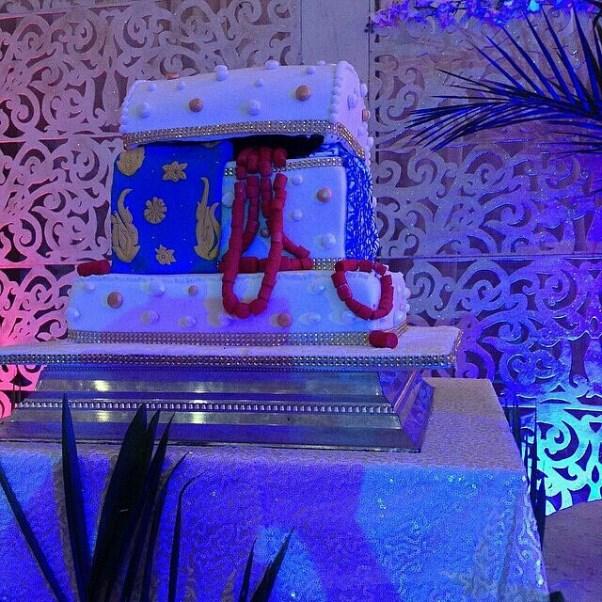 Gbenro Ajibade Osas Ighodaro Traditional Wedding LoveweddingsNG - cake