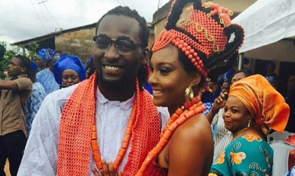 First Photos from Gbenro Ajibade & Osas Ighodaro's Traditional Wedding in Benin