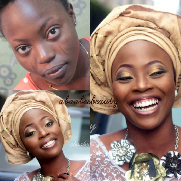 LoveweddingsNG Before and After Abaabee Beauty