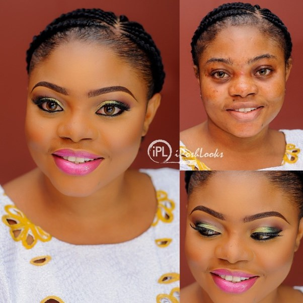 LoveweddingsNG Before and After IPosh Looks