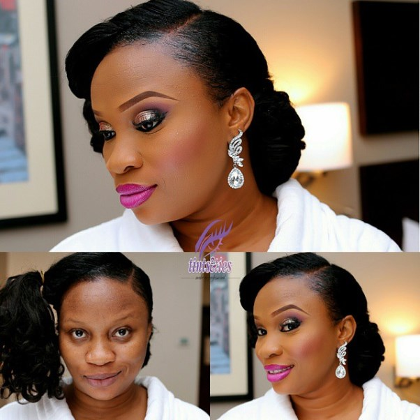 LoveweddingsNG Before and After Tints and Ties Makeup