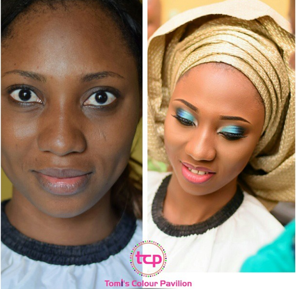 LoveweddingsNG Before and After Tomis Colour Pavillion