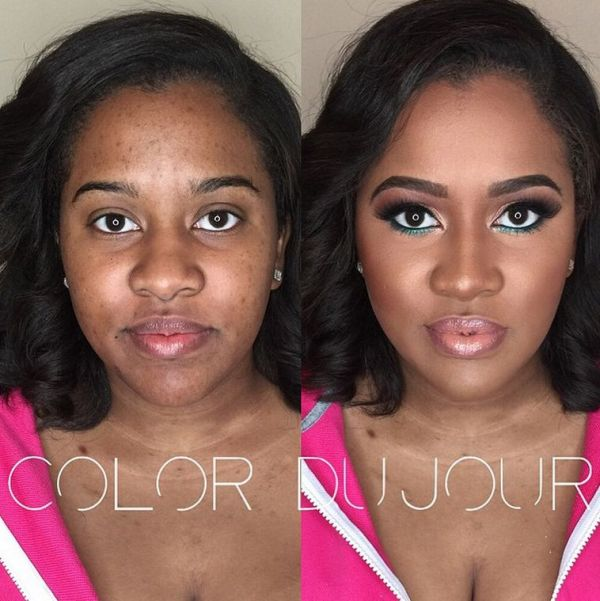 LoveweddingsNG Before meets After Makeovers - Color Dujour