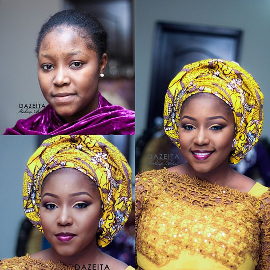 LoveweddingsNG Before meets After Makeovers - Dazeita Makeup Artist