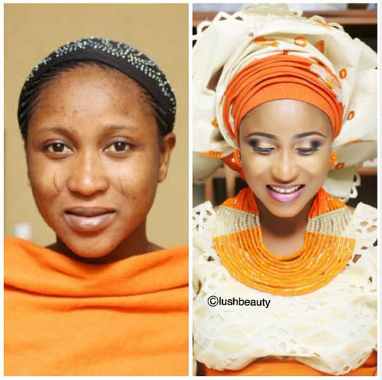 LoveweddingsNG Before meets After Makeovers - Lush Beauty makeover