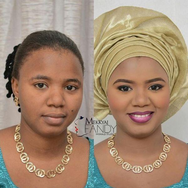 LoveweddingsNG Before meets After Makeovers -Mekkyaj Fandy Makeup Studio