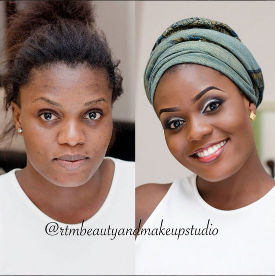 LoveweddingsNG Before meets After Makeovers - RTM Beauty and Makeup Studio