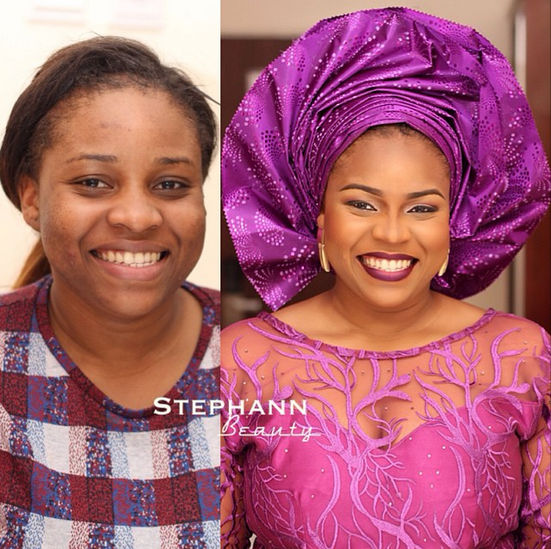 LoveweddingsNG Before meets After Makeovers - Stephann Beauty