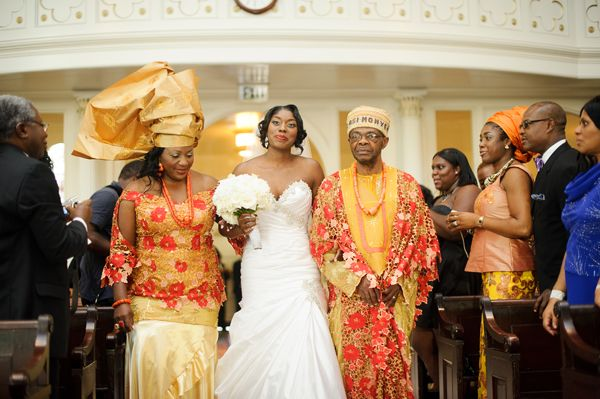 LoveweddingsNG Parents Walk Bride Down The Aisle