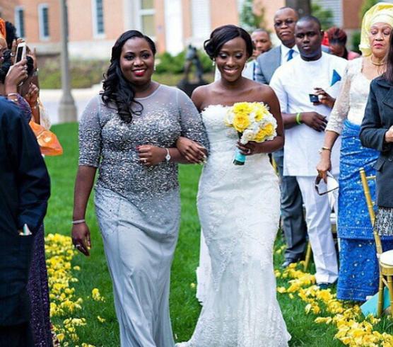 LoveweddingsNG Sister Walks Bride Down The Aisle