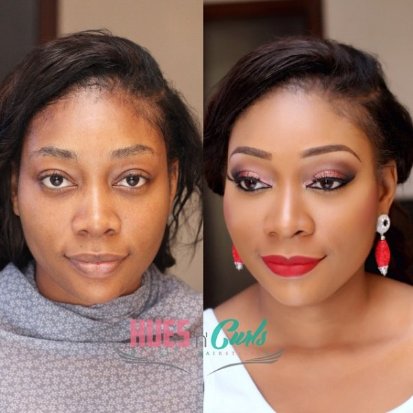Nigerian Before and After Makeovers - Hues n Curls