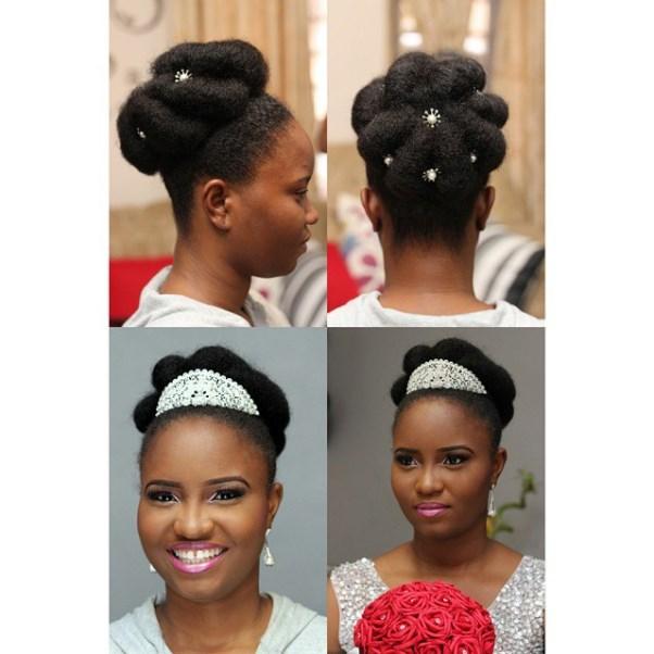 Nigerian Bridal Hair Inspiration LoveweddingsNG - Hues n CUrls