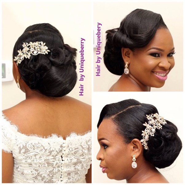 Nigerian Bridal Hair Inspiration LoveweddingsNG - Uniqueberry Hairs