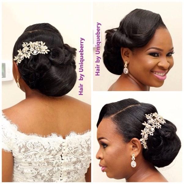 Nigerian Bridal Hair Inspiration LoveweddingsNG - Uniqueberry Hairs