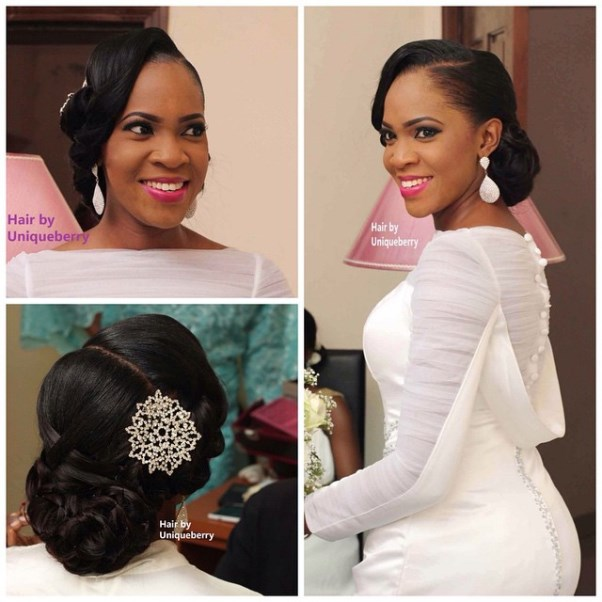 Nigerian Bridal Hair Inspiration LoveweddingsNG - Uniqueberry Hairs1