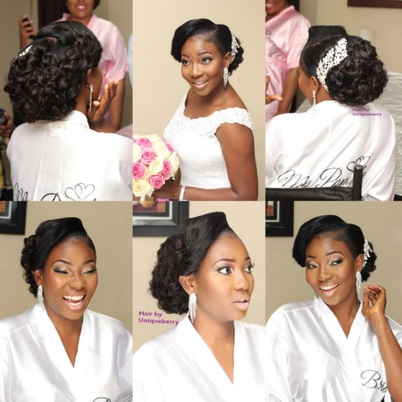 Nigerian Bridal Hair Inspiration LoveweddingsNG - Uniqueberry Hairs2