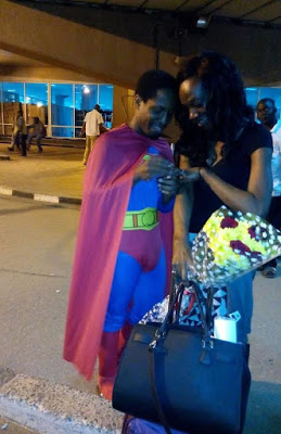 Superman Murtala Muhammed Airport Proposal LoveweddingsNG1