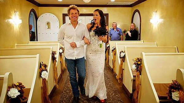 loveweddingsNG Bon Jovi Walks Bride down the Aisle