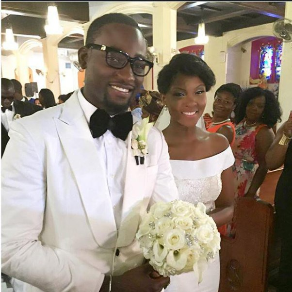Gbenro Ajibade Osas Ighodaro White Wedding LoveweddingsNG