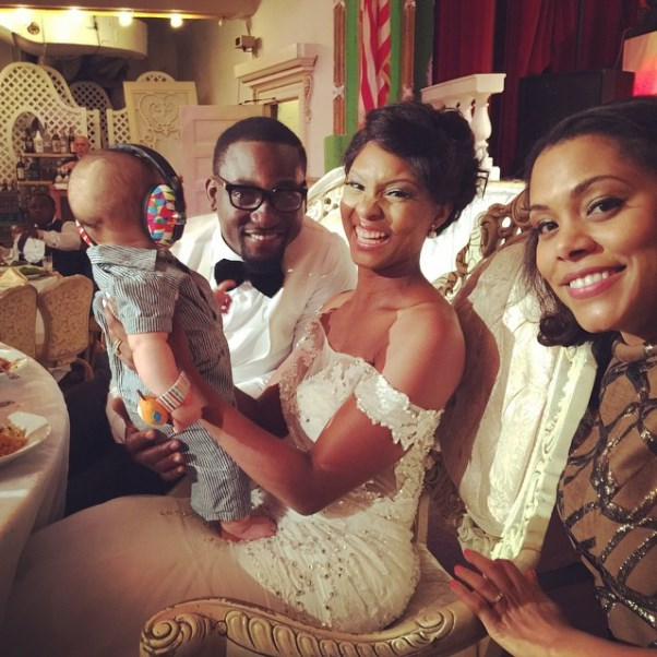 Gbenro Ajibade Osas Ighodaro White Wedding LoveweddingsNG1