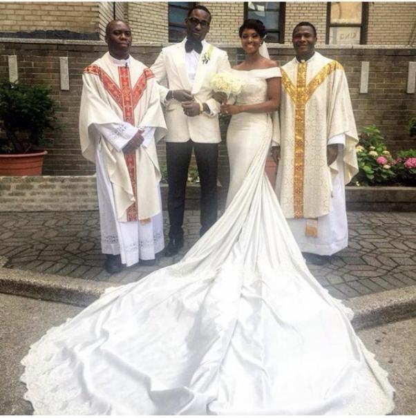 Gbenro Ajibade Osas Ighodaro White Wedding LoveweddingsNG12